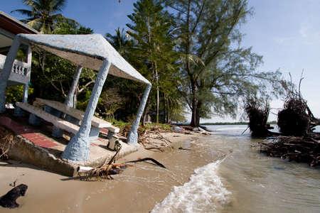 trang: rise of the sea at beach hat Yao Thailand Trang Stock Photo