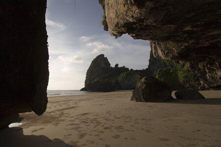 trang: paradise beach and rocks at Had Yao Thailand Trang
