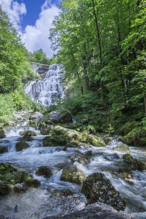 jura: waterfall of Hedgehog, Jura, France
