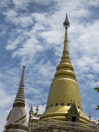 buddhist temple roof: detail of a roof of buddhist temple in Bangkok