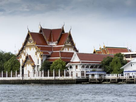 the chao phraya river: Buddist temple is Chao Phraya river, Bangkok