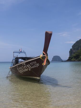 riff: long tail boat at Koh Mook Island, Thailand Editorial