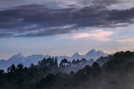 amazing landscape in Nagarkot, Nepal