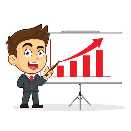 sales executive: El hombre de negocios que hace una presentaci�n