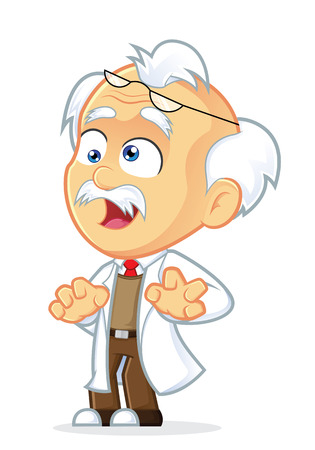 Crazy Professor Stock Vector - 25312094