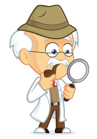 Professor Detective Vector