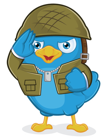 Blue Bird Army Vector