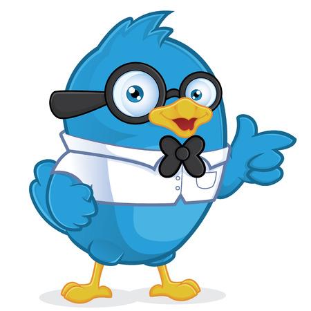 Blue Bird Geek Vector