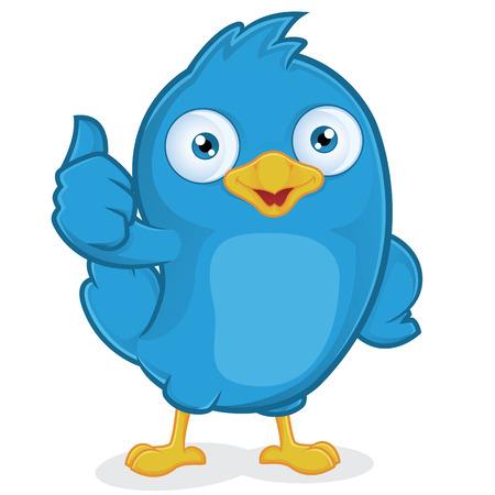 Blue Bird Giving Thumbs Up  イラスト・ベクター素材