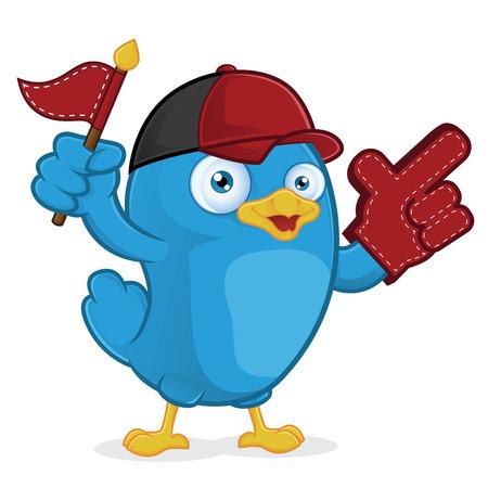 proponent: Blue Bird Supporter Illustration