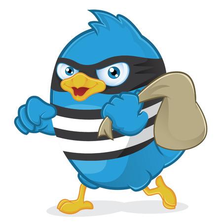 Blue Bird Thief Ilustração