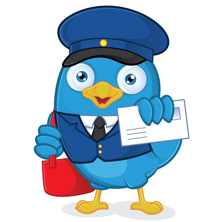 Postman Blue Bird Vector