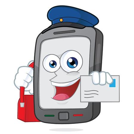 Smartphone mailman Vector