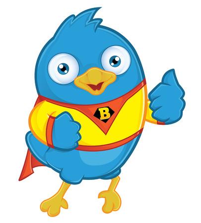Super Blue Bird Vector