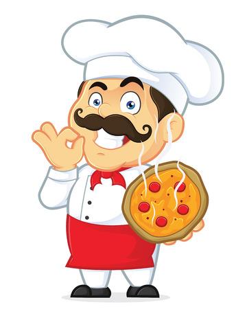Pizza Chef Stock Illustratie