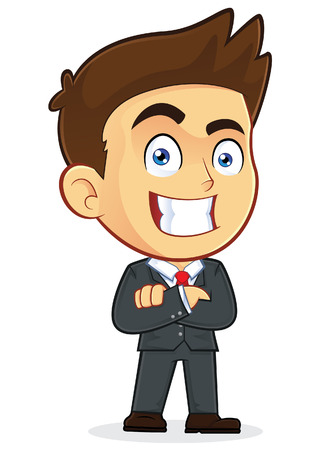 folded hands: Businessman with Folded Hands Illustration