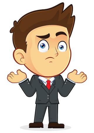 Confused Businessman Gesturing