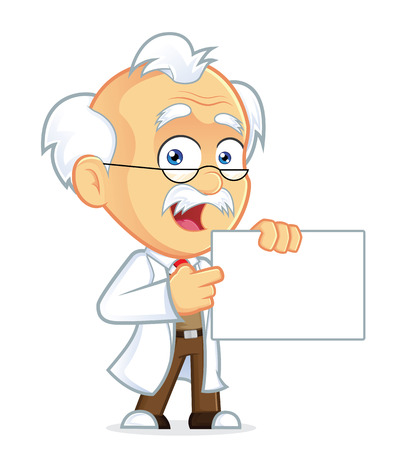 Professor Holding a sign Vector
