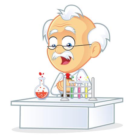 Professor in the Laboratory Stock Illustratie