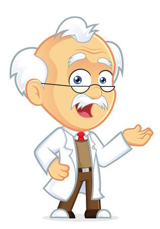 Professor in Welcoming Gesture Stock Illustratie
