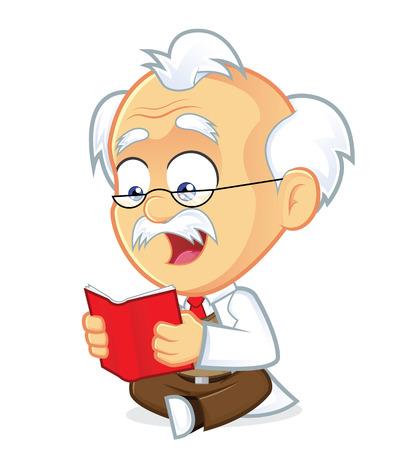 Professor Reading a Book