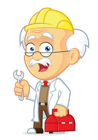 cartoon mascot: Professor Repairman