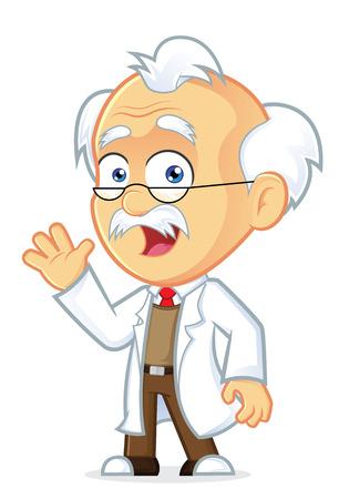 Professor Waving  イラスト・ベクター素材