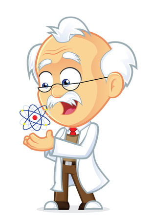 Professor with an Atom