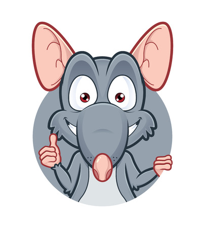Rat giving thumbs up Vector