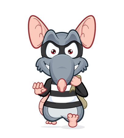 cartoon mouse: Rat thief