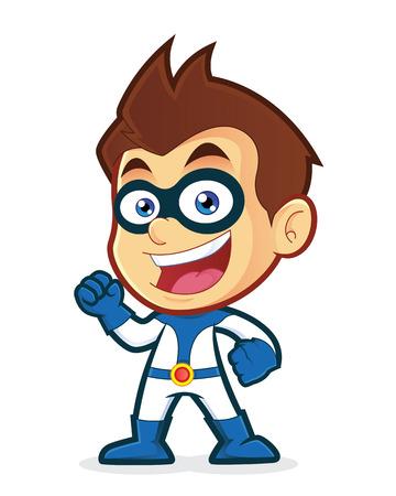 Excited superhero Stock Illustratie