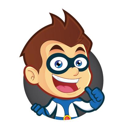 Superhero with Circle Shape Illustration