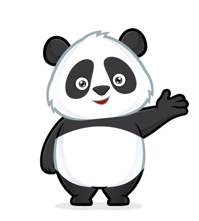 Panda in welcoming gesture Иллюстрация