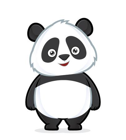 oso panda: Panda de pie Vectores