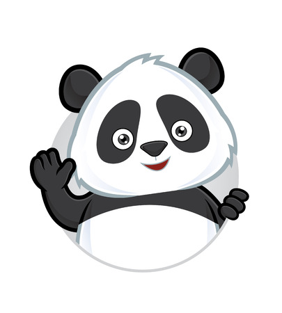 panda bear: Panda waving