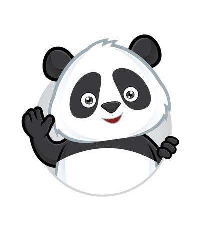Panda winken Standard-Bild - 35192159
