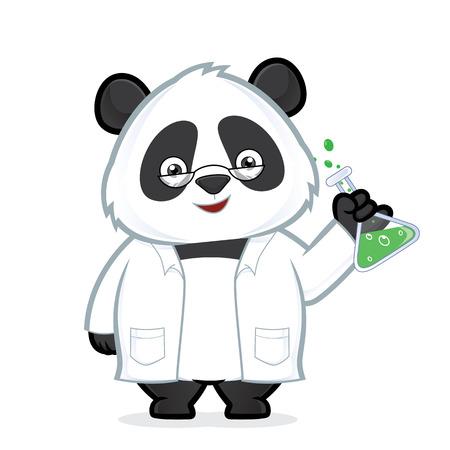 Professor panda  イラスト・ベクター素材