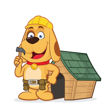 handyman: Dog builder with dog house