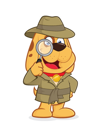 puppy isolated: Detective dog