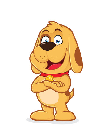 folded hands: Dog with folded hands