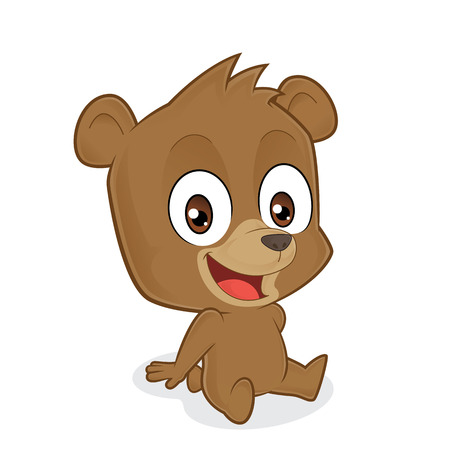 sentarse: oso que se sienta Vectores