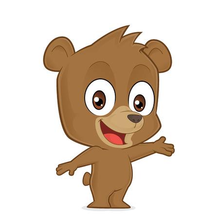 welcoming: Bear in welcoming gesture