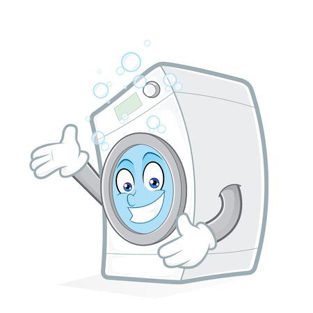 lavadora con ropa: Lavadora de presentación