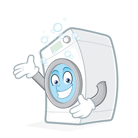 Washing machine presenting