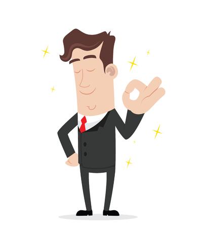 successful: Businessman gesturing ok