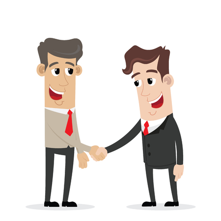 Two businessmen enter into a handshake agreement