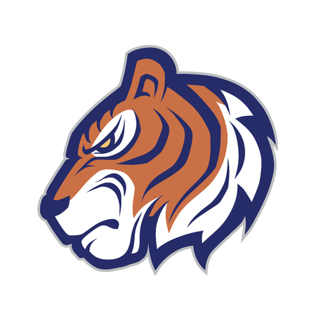 Tiger head mascot 向量圖像