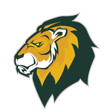Tête de lion mascotte