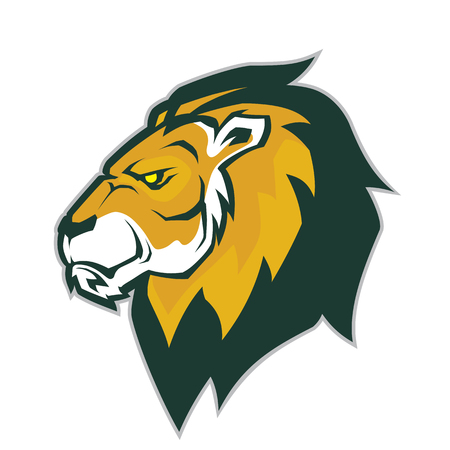 Lion head mascot Illustration