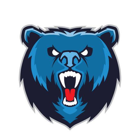 mascota de la pista del oso